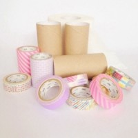 DIY masking tape + toilet paper roll