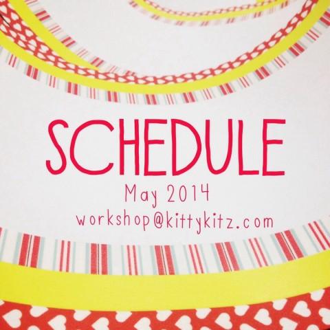 Schedule Workshop Kittykitz May 2014