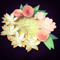 DIY – paper flower frame