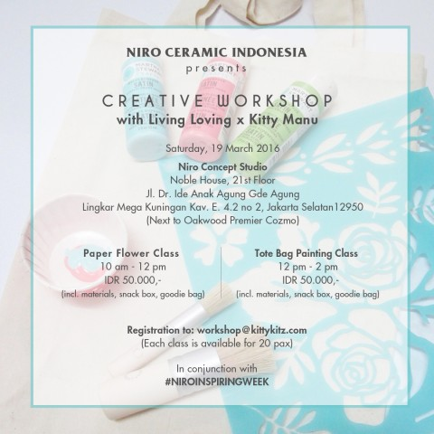 Workshop : NIRO INSPIRING WEEK