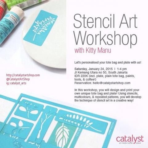 Workshop Stencil at Catalyst Art Shop