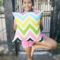 DIY : Chevron Cushion Cover