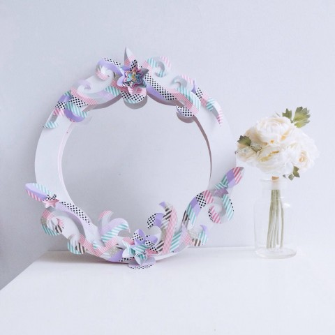 Workshop : DIY Floral Mirror Frame