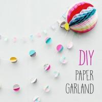 DIY : PAPER GARLAND