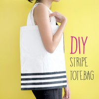 DIY : STRIPE TOTE BAG