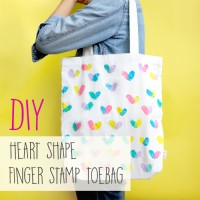 DIY: FINGER STAMP TOTEBAG