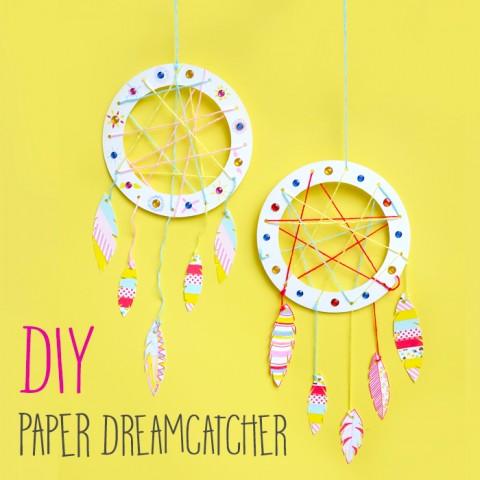 DIY : Paper Dreamcatcher