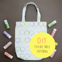 DIY : TISSUE ROLL TOTEBAG