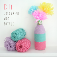 DIY : COLOURFUL WOOL BOTTLE