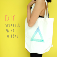 DIY : Splatter Paint Totebag