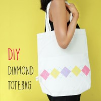 DIY: Diamond Totebag