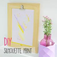 DIY : Silhoutte Print