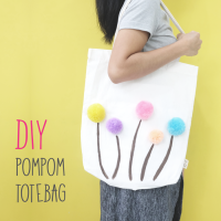 DIY : Pompom Totebag