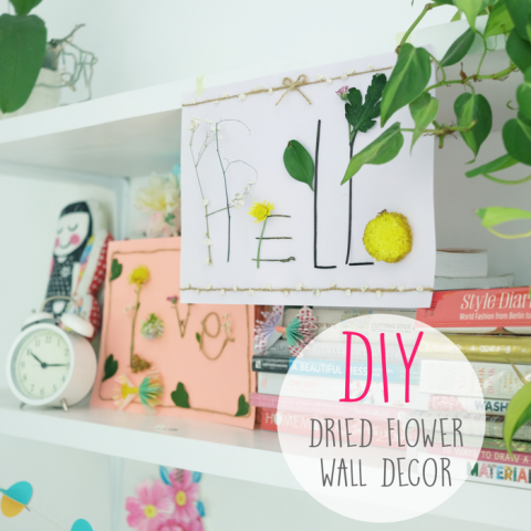 DIY : Dried Flowers Wall Decor