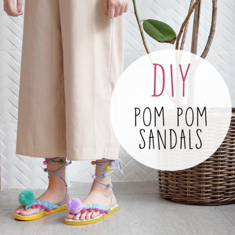 DIY : Pom Pom Sandals